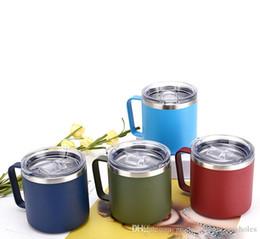 Latas de spray plástico on-line-Hot nova moda copo de spray de plástico 14 oz caneca de dupla camada caneca pode ser personalizado LOGOTIPO direto da fábrica