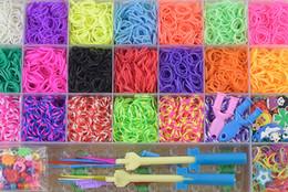 Braccialetti di telaio online-2019 vendita calda elastici Corde capelli per neonate fai da te telaio a mano, braccialetto tessuto elastico per il braccialetto migliore regalo di compleanno per bambini M499A