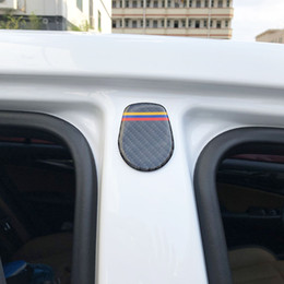 finestra audi a3 Sconti Carbon Fiber Window B Column Emblem Door Decorazione Body Sticker per BMW E90 E70 E60 X5 X6 F10 F30 AUDI A3 A4 A6 Q5 Q6 Mercedes Benz All Car