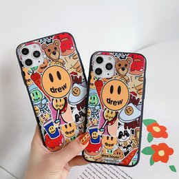 Caso do iphone smiley on-line-Marca De luxo de alta qualidade Justin Bieber desenhou uma caixa de telefone para iPhone XS XR 11 Pro Max 8 7 Mais Smiley face soft TPU Cover