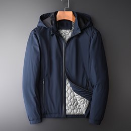 74a2d9aa1947 mens add jackets Sconti Minglu solide giacche con cappuccio da uomo autunno  e inverno di lusso