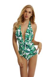 Einzigartige badeanzüge online-Retro Bikini One Piece Sexy Frauen Badeanzug Digital Printed Bikini Set Einzigartiges Design BadeanzugGute Qualität schnelle Lieferung