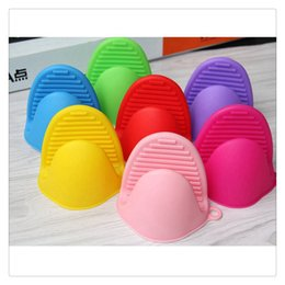 pinch tool Promo Codes - Oven Mitt Kitchen Tools Pot Holder Cooking Pinch Grip Heat Resistant Home Mini Silicone Glove Bakeware