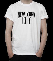 Clásico de la gran manzana online-New York City camiseta NYC Metropolis BIG APPLE Manhattan SKYLINE Gris BLANCA camisas de marca Imprimir camiseta de alta calidad clásica