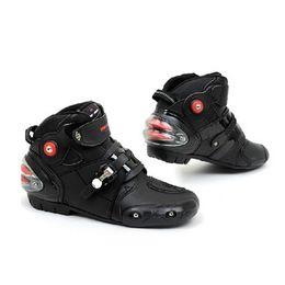 Botas de corrida 46 on-line-Tamanho do plugue 46 47 4 Temporada botas de Motociclista Dos Homens BIKE BICICLETAS de couro de Microfibra de corrida de moto sapatos de velocidade da motocicleta bota
