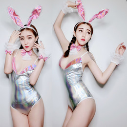 Argentina Traje holográfico de las mujeres Modern Jazz Enfant Cantante femenina Sexy Body Sliver Stage Outfit DJ Costume Leotard Clothes DWY2038 supplier sexy leotard outfit Suministro
