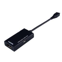 Hdmi mini micro online-Nuevo Mini Micro USB a HDMI Cable 1080P HDTV MHL Converter Converter para Android Huawei Samsung