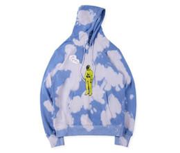 sudadera estrellas Rebajas TRAVIS SCOTT x DOVER Star Tie Dye Sudaderas con capucha para hombre Ropa de diseñador Otoño 19FW Sudaderas