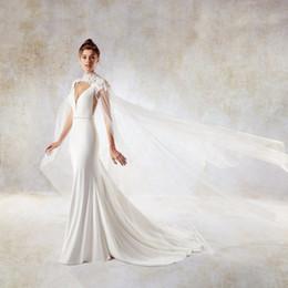 DREAM BRIDALS Abito da sposa a sirena con scollo a V e scollo a V Involucro di pizzo da