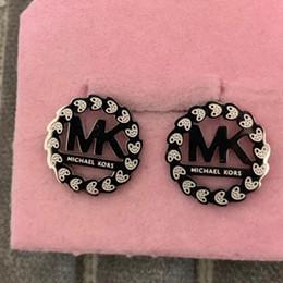 Boucles d'oreilles en Ligne-2019 hip hop hommes femmes argent creux boucles d'oreilles pour les femmes rose or cristal boucles d'oreilles de mariage bijoux de mariage cadeau