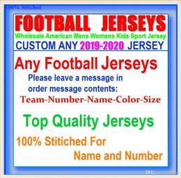 Camisa de basebol autêntica barata on-line-Todos Costurado Personalizado camisas de futebol americano Tampa Bay Dallas faculdade autêntica barato basquete basquete mens juventude das mulheres EUA 4xl limitado