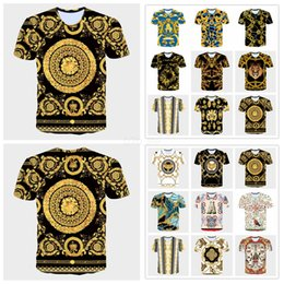 Camiseta larga vestido hombres online-Medusa Impreso Camiseta de Manga Larga Hombres Lion Head Verano 3d blusa de impresión Vestidos Tops Blusa LJJA2367