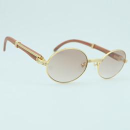accesorios de moda Rebajas Vogue lujo Shade gafas de sol de los hombres de la decoración de madera oval de oro gafas de sol de moda de verano vocación Accesorios Gafas de sol