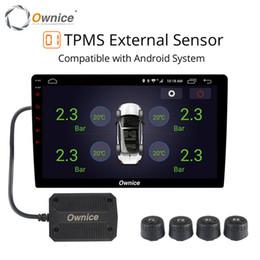 câble adaptateur iso Promotion Ownice USB Car Android TPMS moniteur de pression des pneus système d'alarme de surveillance de la pression de navigation Android transmission sans fil TPMS