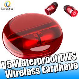 scatole regalo di mele Sconti Auricolari impermeabili X7 Bluetooth 5.0 Auricolari senza fili veri HiFi Stereo Cuffie moda audio Cuffie V5 per regalo con scatola di ricarica izeso