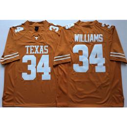 e3e80806910f8 Mens Texas Texas Longhorns Ricky Williams Costurado NameNumber Americano  Futebol Americano Jersey Tamanho S-3XL tamanhos de camisa de futebol  americano ...