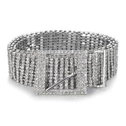 Вечерние платья онлайн-Женщины Блестящий Пояс Талия цепи кристалл алмаза Waistband Полный Rhinestone Luxury Wide партия Пояс Пояс для платья MMA2662-A1