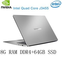 ram pour intel Promotion P2-38 8G RAM 64G SSD Intel Celeron J3455 NvIDIA GeForce 940M Gaming clavier et langage de système d'exploitation disponibles au choix