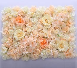 Fleur mur Soie Rose entrelacs mur cryptage floral fond artificiel fleurs étape créative de mariage livraison gratuite WT055 ? partir de fabricateur