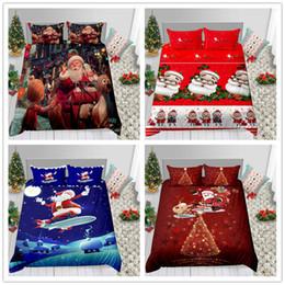 Conjunto de cama romântico presente de natal para crianças criança com lençol capa de edredon travesseiro vermelho branco preto de edredon capa conjunto 2019 novo de Fornecedores de cama vintage preto branco