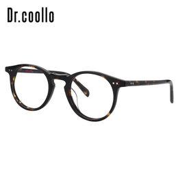 78327e71ed791 Brand Full Rim Small Round Acetate Reading Computer Optical Eyeglasses  Frames For Men