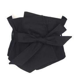 Cinturones de tela negra online-Traje de marca Vestido de tela Cinturones Mujer Negro 19 cm Ancho Cinturón Accesorios de vestir Cinturón Femenino Caestus Adelgaza corsé Correa Correas Y19070503