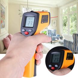 commercio all'ingrosso termometro del serbatoio della pesca Sconti Digital GM320 Termometro a infrarossi senza contatto Pirometro IR Laser Point Gun con retroilluminazione -50 ~ 380 gradi per uso industriale