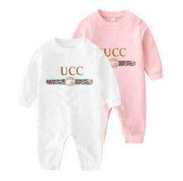 Marca de roupas linda menina on-line-Marca Designer Infante recém-nascido do bebé Menino Adorável 100% algodão com capuz Romper Macacão Conjuntos roupa do bebê Bodysuit