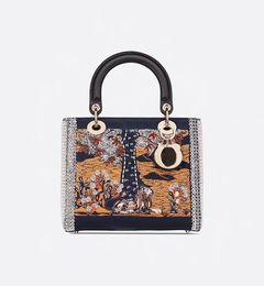 Sacs de mode nobles en Ligne-Nouveau sac en cuir brodé haut créateur de mode sac à main chanceux de marque Tarot de mode sac à bandoulière sac à main achats noble, élégant et popu
