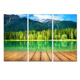 Decoración contemporánea online-Arte de la pared Impresión Contemporánea Pintura Montañas Naturaleza Lago Glacial Paisaje sobre Lienzo Imagen de la sala de estar Dormitorio para decoración de oficina DYA18