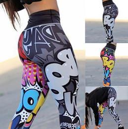 Mujeres Pantalones de yoga Impresión digital Dibujos animados pequeño monstruo enrejado Medias Mujer de cintura alta baile activo Leggings Flaco silm Fitness desde fabricantes