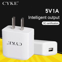 Carregador iphone 5w on-line-CYKE 5V 1A USB carregador de viagem carregador de parede Adaptador 5W portátil Smart Mobile Phone Charger Inspeção de Qualidade