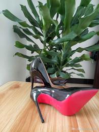 2019 haarfarbe styles burgund schwarz Christian Louboutin Luxus CL 2019 D5 Frauen rote untere Pumpen-Absatz-Blick-Zehe-Stilett-Kleid-Schuh-Plattform-Glanzleder-Mattfarben
