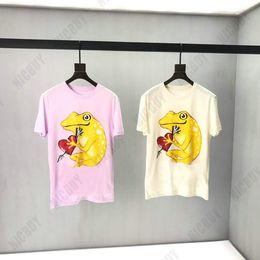 ropa de rana Rebajas Diseñador de moda de alta calidad ropa de lujo para hombre europa camiseta rana dorada letra roja camiseta impresa camiseta superior ocasional camiseta