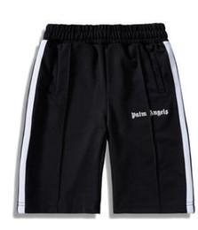 2019 calça de baixo para homem Designer Shorts palma Anjos New listrada branca Calças Side Elastic cintura Shorts Classic Sports Calças clássico alta ASSC Qualidade