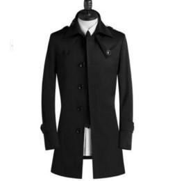 Cinturones de gabardina para hombre online-Nice New Designer Teenage Slim Sexy Trench Coat Men Mens Trench Coat Clásico Casual Negocios Cinturón de prendas de vestir exteriores más el tamaño S - 8xl
