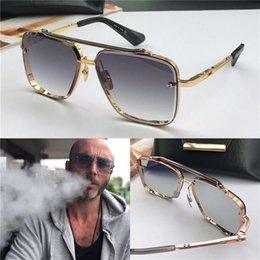 Nuevas gafas de sol de lujo para hombres, gafas de sol vintage de metal, estilo de moda, lente cuadrada sin marco UV 400 con estuche original desde fabricantes