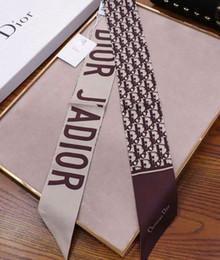 Пакеты для волос онлайн-Оптовая шелковый галстук мода мужчины и женщины шелковые волосы группа бренд шарф упаковка украшения маленькая лента печатных шелковый шарф