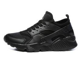 2019 Marca Huarache Run 1.0 4.0 Stripe Negro Gris Bronzine Zapatos para correr Nuevos Hombres Mujeres Diseñador Zapatillas de deporte Tamaño 36-44 desde fabricantes