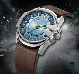 2019 relógios de quartzo baratos Hot moda casual esportes dos homens relógio de negócios militar Barato Americano famoso quartzo marrom cinto de couro assistir dz 1399 dz1295 dz1206 mens desconto relógios de quartzo baratos