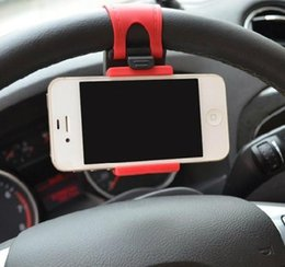 sterzo di guida intelligente Sconti Universal Car Carry Mount Steering Wheel Holder SMART Clip Car Bike Mount per cellulare iphone samsung Cellulare GPS regalo di Natale