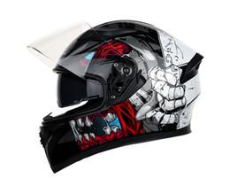 brandneue ABS Motorradhelm Männer und Frauen voller Helm Stil Persönlichkeit cool vier Jahreszeiten Angepasst Horn Motorrad Racing Helm von Fabrikanten