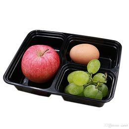 2020 caja desechable de contenedores de almuerzo Porción cariel de comidas de preparación contenedores de almacenamiento de alimentos de microondas de control desechables recipientes con tapas Box Lunch Box Bandeja con tapa 2017 WN005B rebajas caja desechable de contenedores de almuerzo