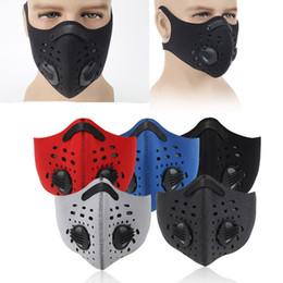 máscara de filtro para los deportes Rebajas Montar bicicleta no del resbalón máscaras de seguridad a prueba de viento a prueba de polvo de la media cara Respirador de aire antiempañante carbón activado filtro Máscara de deportes al aire libre M679F