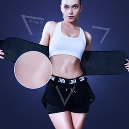 Весовые аксессуары онлайн-Sports Weight Loss Waist Belt Trimmer Slim Sweat Band Adjustable Lumbar Brace Support Gym Accessories Weightlifting Training