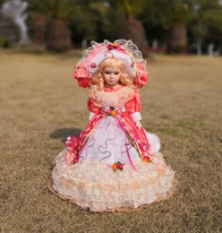 china doll christmas Coupons - Height 45cm Welfare Doll Russian Snow Girl for Christmas Decoration Blue Russian Style Home Decor baby gifts