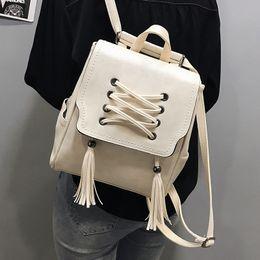 1f56fa64a4518 2019 neue mode frauen rucksäcke quaste hohe qualität pu leder weibliche damen  tasche koreanische student rucksack adrette stil tasche