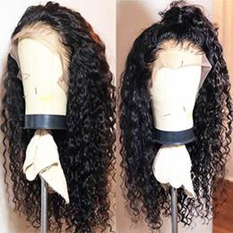 Lunghe parrucche da 24 pollici online-Parrucche per capelli ricci lunghi sciolti ricci sciolti naturali per le donne Fibra per capelli termoresistenti ricci sintetici con capelli per bambini 180 densità 18 pollici