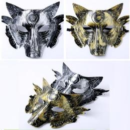 máscaras de celebridades de estados unidos Rebajas Engrosamiento Lobos Máscara Terror Horrible Retro animal Máscaras Suministros de Halloween Disfraz Bola Festival Decoración Máscara Fiesta T5I075