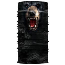 2019 pescoço aquecedores snowboard Impressão digital 3D máscara digital de toalha urso preto proteção solar sem costura multifuncional toalha de equitação ao ar livre
